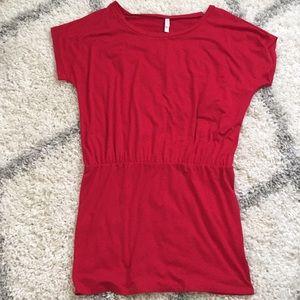 Xhilaration Red short sleeve Blouson dress